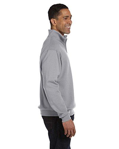 Jerzees mens 8 oz. 50/50 NuBlend Quarter-Zip Cadet Collar Sweatshirt(995M)-OXFORD-S