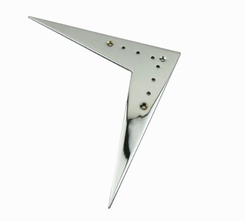 IKN Chrome Metal Flying V Guitar Bridge Tailpiece for Gibson Style Electric Guitar Part by IKN