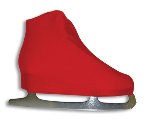 A&R Sports Lycra Ice Skate Boot Covers, Red]()