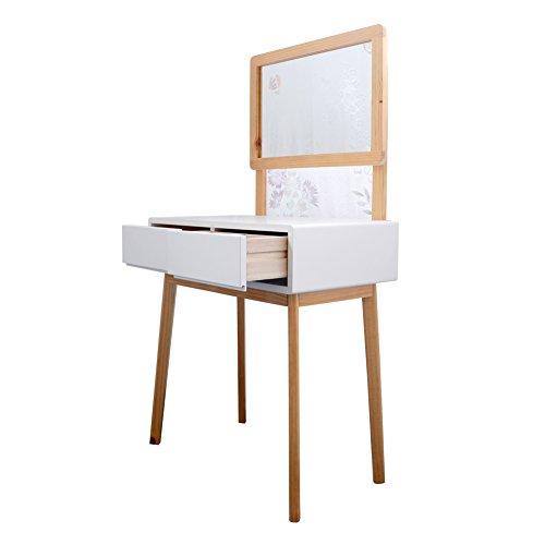Yjbe dressing table set with vanity mirror stool elegant vanity desk makeup desk bedroom - Elegant vanity stools ...