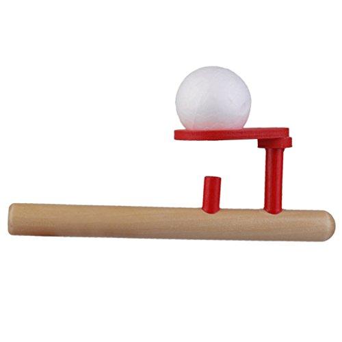 TOOGOO 클래식 한 원목 게임 부동 공 블로 튜브 및 사 발 장난감 / TOOGOO Classic Wooden Game Floating Ball Blow Tube & Ball Blow Toy