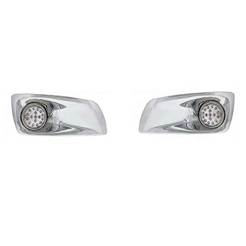 United Pacific Kenworth T660 Front Bumper Amber LED Auxiliary Lights/Chrome ()