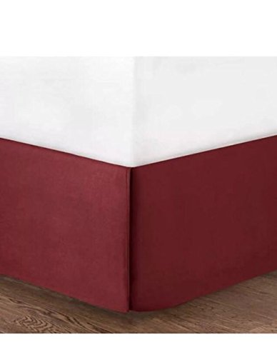 Mainstay Solid King Bed Skirt - Red Sedona