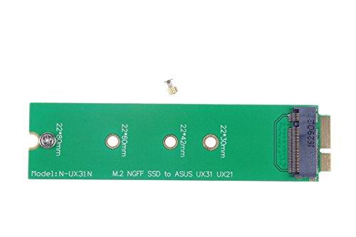 KNACRO B+M KEY SATA M.2 NGFF SSD to 18 Pin SSD Adapter Card for ASUS UX31 UX21 ()