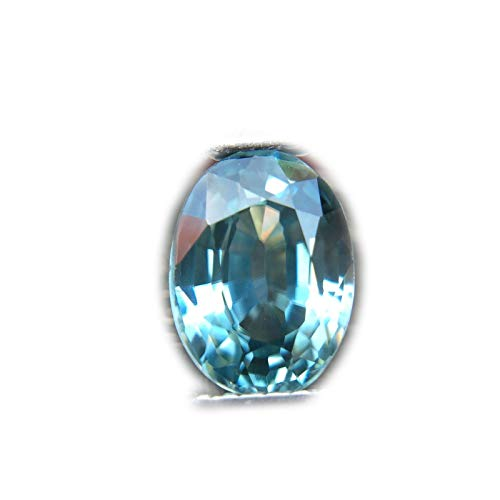 Lovemom 2.07ct Natural Oval Gentle Heated Blue Zircon Cambodia #W ()