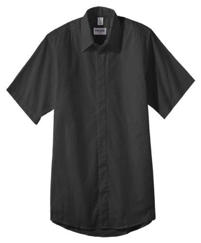 Straight Collar Broadcloth Shirt - 7