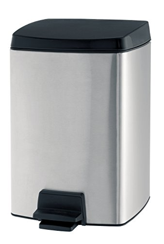 Rectangular Brabantia Trash Can (Brabantia Matte Steel 2 Gallon Rectangular Pedal Waste Bin)