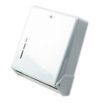 San Jamar T1905WH Classic Truefold Paper Towel Dispenser, Wall Mount, White Finish