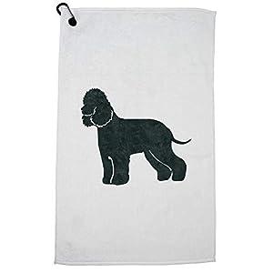 Hollywood Thread Irish Water Spaniel Dog Golf Towel with Carabiner Clip 49