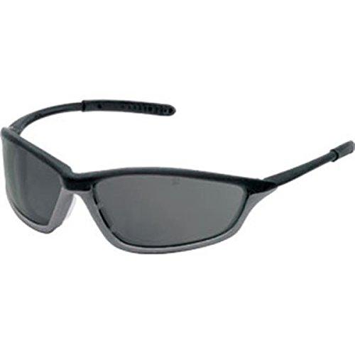 MCR Safety Shock Eyewear, Onyx/Graphite Frame, Gray Anti-Fog Lens ()