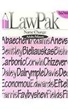 Name Change, LawPak Staff, 1879421062