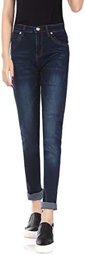 Demon&Hunter Women's Blue Skinny Jeans Y6L58