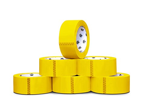Colored Premium Grade Packaging Tape: 3 in. x 55 yds. 2 Mil (Yellow) 144 Rolls by PackagingSuppliesByMail by PackagingSuppliesByMail