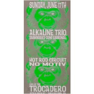 Alkaline Trio Poster w/ Dashboard Confessional 2001 Concert Grey
