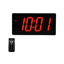 Large Huge & Digital Display 4 Digits LED Best Alarm Clock With Remote