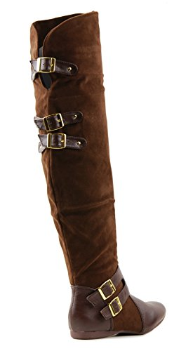 Over Boots Jazz Knee Flat The Womens Brown B5SwqvgS