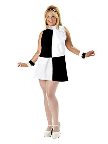 Go Sexy Costumes (Women's Sexy Plus Go Go Girl Geo Costume 2X)