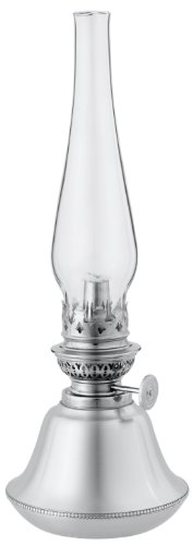 DANFORTH - Bristol Oil Lamp - 11 1/2 Inches - Pewter - Satin Finish - Handspun - Made in -