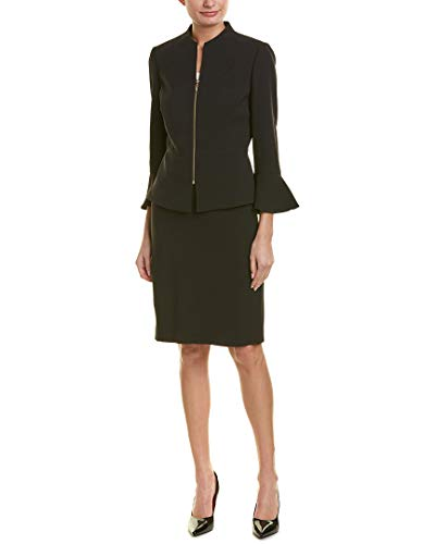 Tahari by ASL Women's Skirt Suit with Collarless Jacket Black 2