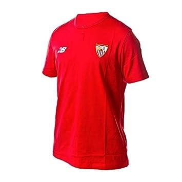 New Balance Sevilla FC MC Algodón 2017-2018, Camiseta, Rojo, Talla XL: Amazon.es: Deportes y aire libre