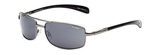 US Army Sunglasses Men's Us Army Ar15 Aviator Sunglasses, Gunmetal, 33 (Army Aviator)
