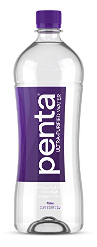 Penta Ultra Purified Bottled Water, 33.8 Ounce (Pack of 12)