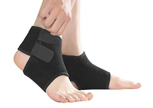 (Ankle Brace Support for Kids, Breathable Adjustable Compression Ankle Tendo Foot Support Sleeve Stable Wraps Guard for Running Basketball Ankle Sprain Injuries Relief Joint Pain)