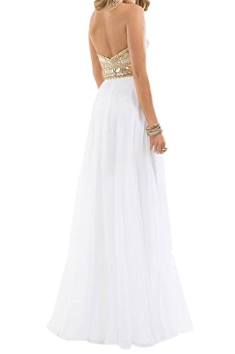 Mariée Ange 2016 Longueur De Plancher De La Colonne Mode Des Robes De Bal En Mousseline De Soie Chérie Blanc