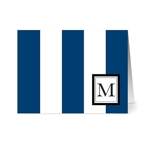 Amazon.com: Moderno Wide Stripe Monogram – 24 – Tarjetas en ...