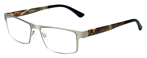 Calabria 5961 Metal Camouflage Reading Glasses in Silver - Glasses Frames Camo