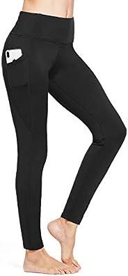 BALEAF Women's Fleece Lined Leggings Winter Yoga Leggings Thermal High Waisted Pocketed P