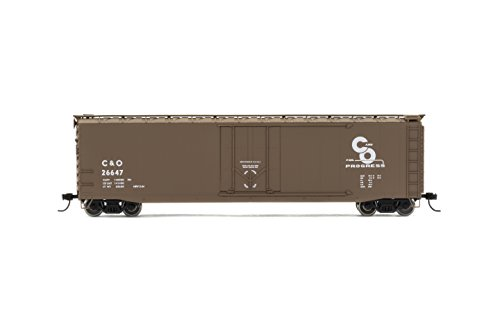 Rivarossi #26647 Chesapeake & Ohio Railroad Box Car with Plug Door (HO Scale) (Door Ho Scale)