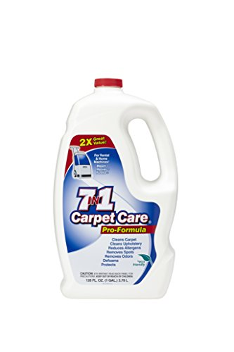 7in1 Carpet Care Pro Formula Solution-Case of two 1 gallon bottles (Solution 1 Gallon Bottle)