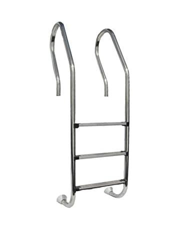 Gre 126673 - Escalera de acero inox 3 peldaños para piscinas de madera