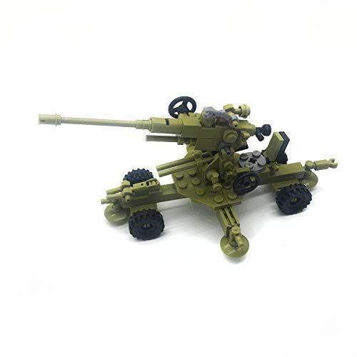 koolfigure Custom WWII Towed Anti-Aircraft Machine Gun Building Blocks Toy  Set, WW2 Military Army Mini Build Bricks