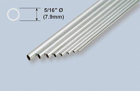 """1//4 aluminium tube 12/"""" long 0.014/"""" wall"""
