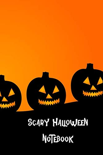 Scary Halloween Notebook: With Orange Pumpkins, Kids Lined Pages Composition -