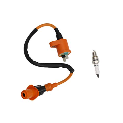 (CNCMOTOK High Performance Racing Ignition Coil Electrode Spark Plug for Chinese 50cc 125cc 150cc Gy6 Moped Scooter ATV Go Kart )