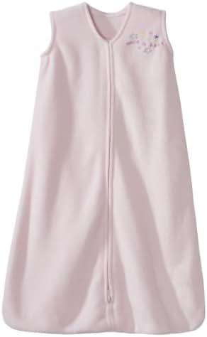 HALO SleepSack Micro-Fleece Wearable Blanket, Soft Pink, Small