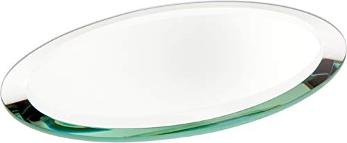 Oval Mirror Base - Plymor Oval 5mm Beveled Glass Mirror, 4 inch x 6 inch