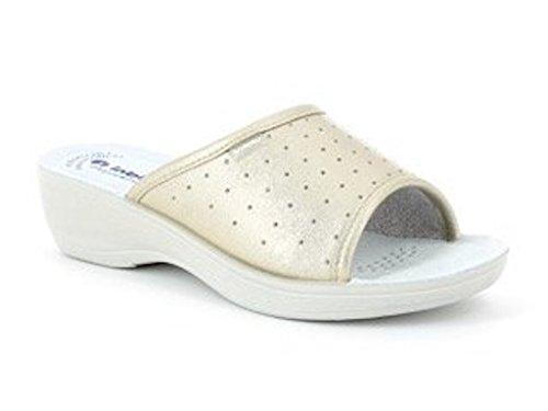 In Blu Pamela, Zapatos de Trabajo para Mujer Platino
