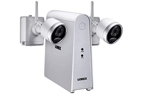 Lorex 6-Channel, 2-Camera Indoor/Outdoor Wire Free 1080p DVR Surveillance System White LHWF16G32C2B