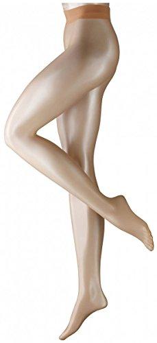 Falke Womens Shelina 12 Denier Ultra-Transparent Shimmer Tights - Golden New - Small/Medium