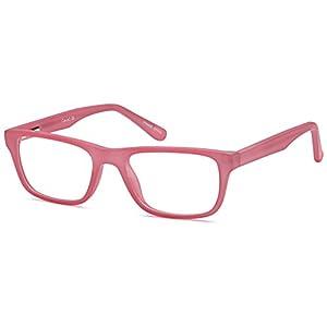 DALIX Girls Prescription Eyeglasses Frames 47-17-133-32 RXable in Matte Pink GLS-OC1502