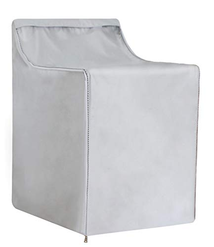Covolo Washing machine Cover, Waterproof Dustproof Windproof Suitable outdoor top-load and front load machine, Moderately Sunscreen Silver Coated (W29D28H40in)
