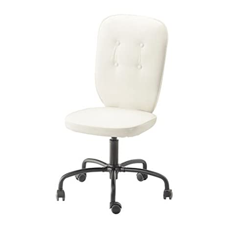 LILLHÖJDEN - Silla de Oficina giratoria, Blanco Blekinge Idemo Blanco: IKEA of Sweden: Amazon.es: Hogar