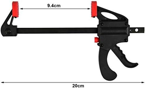 Juego de 5 abrazaderas para carpinter/ía de 10 cm de agarre de abrazadera F con tornillo de sujeci/ón para carpinter/ía