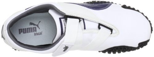 PUMA SPORT SNEAKERS MOSTRO LEATHER MEN, WHITE/MEDIEVAL BLUE, COLOUR WHITE