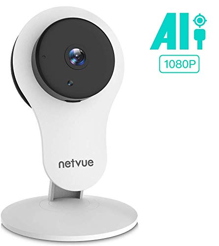Netvue Security Camera - 1080P Indoor Camera with Phone APP and Audio, Home Camera with Wide-Angle Lens, Night Vision & AI Motion Detection, 2-Way Audio, Netvue Indoor Camera Work with Alexa