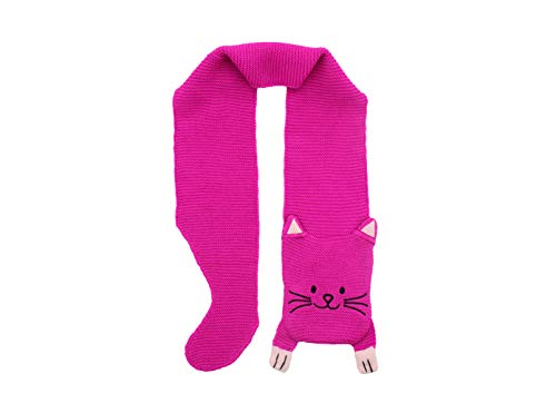 Kidorable Little Girls'  Lucky Cat Scarf, Magenta Pink, One Size